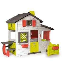 Smoby - Domek Friends House z dzwonkiem i ogródkiem 310209