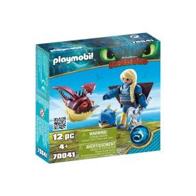Playmobil - Astrid i Hobbgobler w zbroi do latania 70041