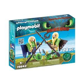 Playmobil - Mieczyk i Szpada w zbroi to latania 70042