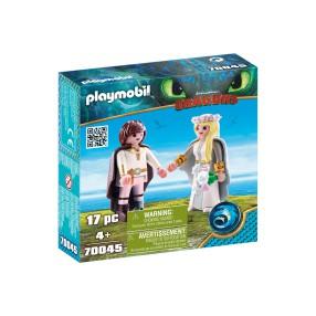 Playmobil - Astrid i Czkawka w strojach ślubnych 70045
