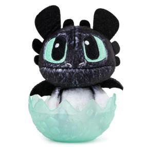Spin Master Dragons - Mały Pluszowy Smok w jajku Dziecko Szczerbatka i Białej Furii 20103564
