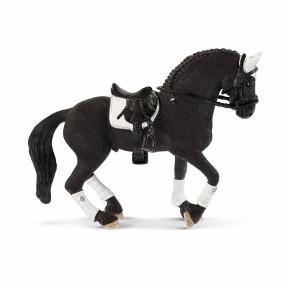 Schleich - Zestaw turniejowy koń rasy fryzyjskiej z akcesoriami 42457