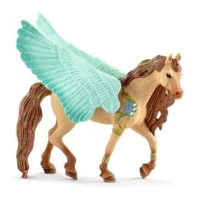 Schleich Świat Elfów Bayala - Magiczny Koń Fantasy Pegaz z biżuterią - Ogier 70574
