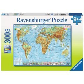 Ravensburger - Puzzle XXL Polityczna mapa świata 300 elem. 130979