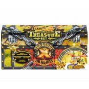 Treasure X Dragons Gold - Skrzynia 3-Pak Złoty Smok, Łowca Skarbów i Mała Bestia 41511