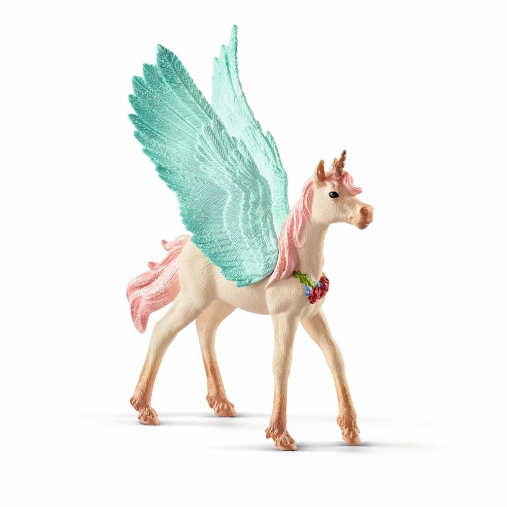 Schleich Świat Elfów Bayala - Magiczny Koń Fantasy Jednorożec z biżuterią - Źrebię 70575