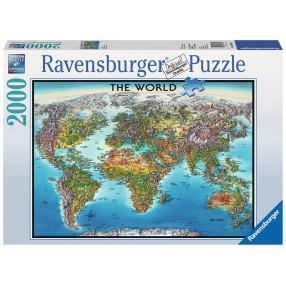 Ravensburger - Puzzle Mapa świata 2000 elem. 166831