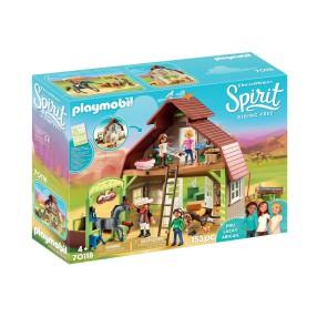Playmobil - Boks stajenny z Lucky, Pru i Abigail 70118