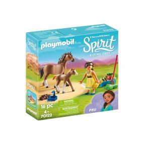 Playmobil - Pru z koniem i źrebakiem 70122