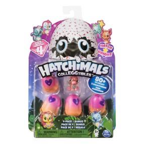Spin Master Hatchimals - Zestaw 4 sztuk + bonus Jajko niespodzianka Seria 4 6043960