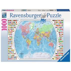Ravensburger - Puzzle Mapa Polityczna Świata 1000 elem. 196333