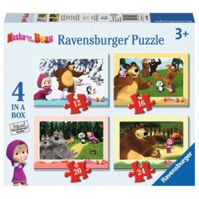 Ravensburger - Puzzle Masza i Niedźwiedź 4w1 070282