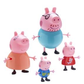 TM Toys Świnka Peppa - Figurki Zestaw Rodzina Peppy Mama, Tata, Peppa i George 06666