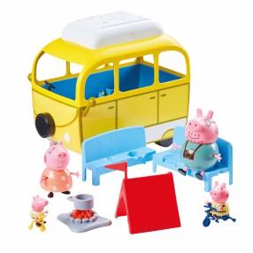 TM Toys Świnka Peppa - Kamper z akcesoriami i 4 figurki Seria 2 06922