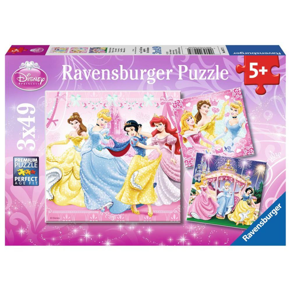 Ravensburger - Puzzle Disney Królewna Śnieżka 3 x 49 elem. 092772