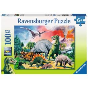 Ravensburger - Puzzle XXL Pośród Dinozaurów 100 elem. 109579