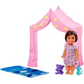 Barbie Skipper - Akcesoria spacerowe, Zabawa w Namiocie + laleczka FXG97