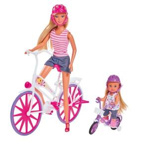 Simba Steffi LOVE - Przejeżdżka na rowerze Lalka Steffi i Evi 5733045