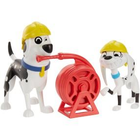 Mattel Ulica 101 Dalmatyńczyków - Figurki Dolly i Doug 2-Pak Strażacka Przygoda GBM38