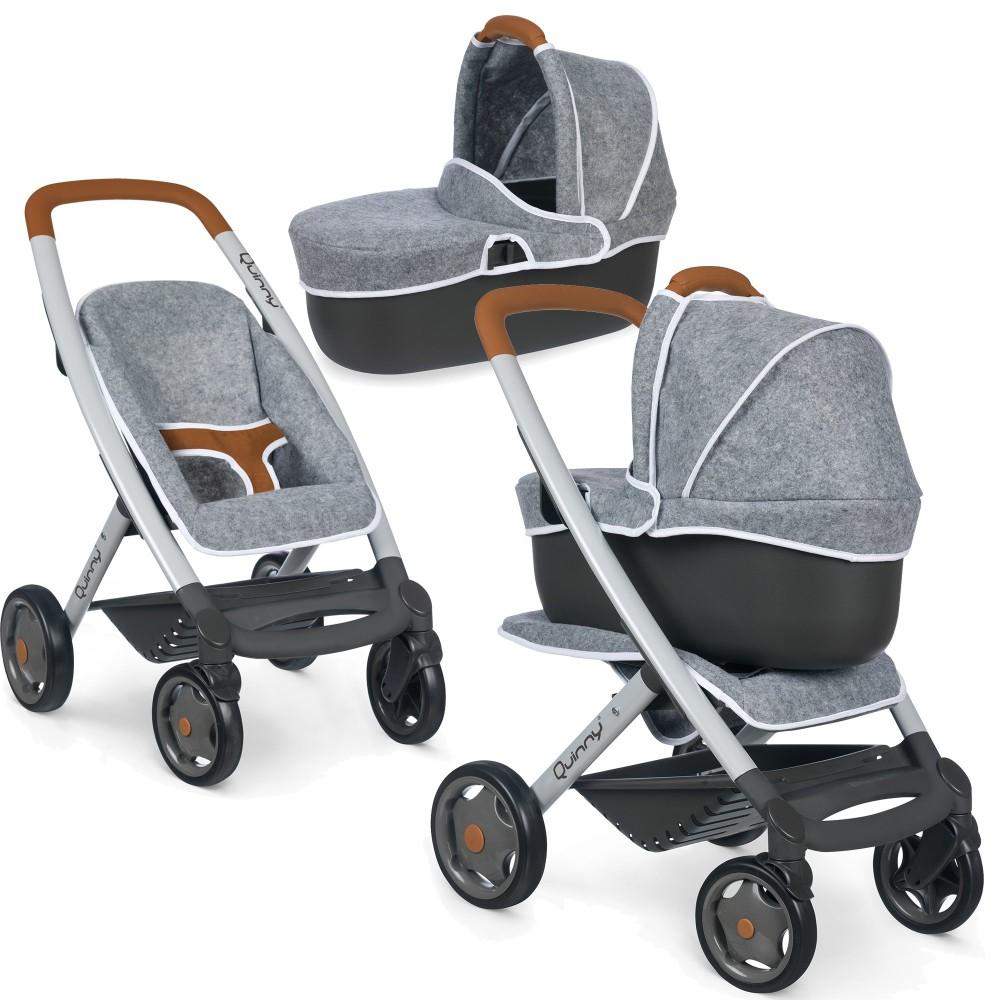 Smoby Maxi-Cosi Quinny - Wózek Spacerówka i gondola dla lalek 3w1 Model 2019 253104