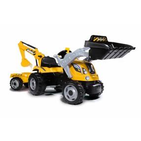 Smoby - Traktor Builder MAX z łyżką, koparką i przyczepą 710301