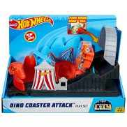 Hot Wheels City - Zestaw Rollercoaster Atak Dinozaura GBF93