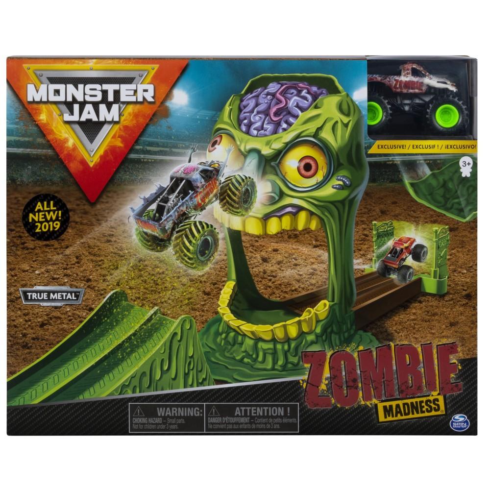 Spin Master Monster Jam - Zestaw Wyczynowy Zombie Madness + Superterenówka Zombie 20103383