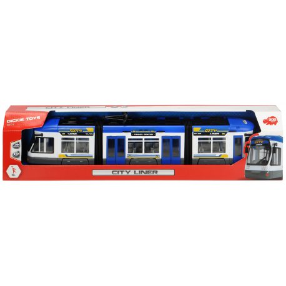Dickie City - Tramwaj City Liner Niebieski 46 cm 3749017 B