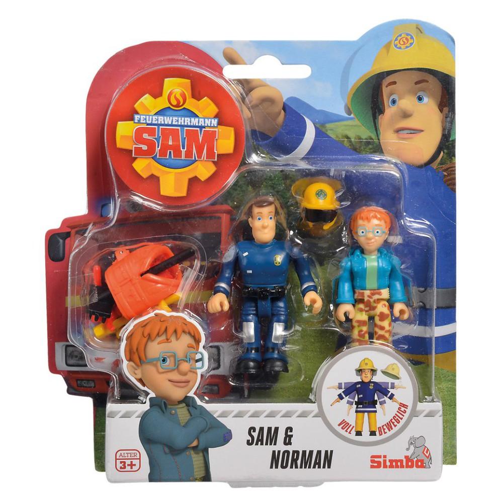 Simba - Strażak Sam 2 Figurki z akcesoriami Sam i Norman 9251043 A