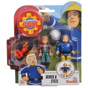 Simba - Strażak Sam 2 Figurki z akcesoriami Derek i Steele 9251043 C