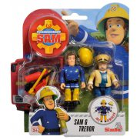 Simba - Strażak Sam 2 Figurki z akcesoriami Sam i Trevor 9251043 D