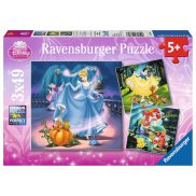 Ravensburger - Puzzle Księżniczki Disney 3x49 elem. 093397