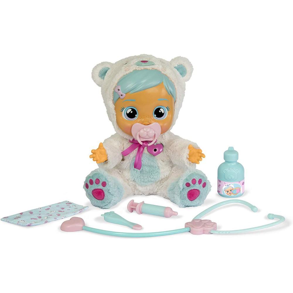 IMC Toys Cry Babies - Płacząca chora lalka interaktywny bobas Kristal 98206