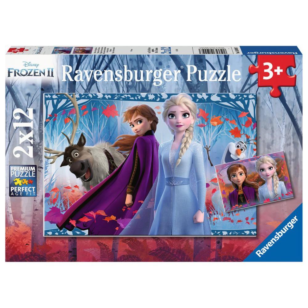 Ravensburger - Puzzle Frozen 2 Kraina Lodu 2 x 12 elem. 050093