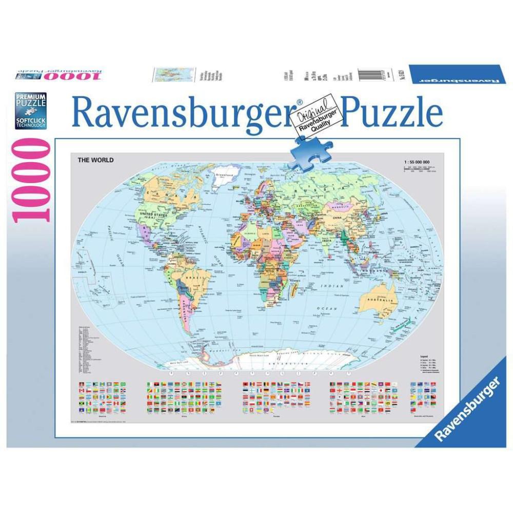 Ravensburger - Polityczna mapa świata 156528