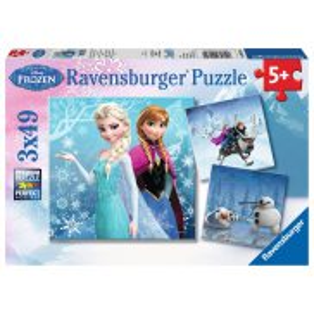 Ravensburger - Frozen Kraina Lodu Zimowe Przygody 3x49 ele. 092642