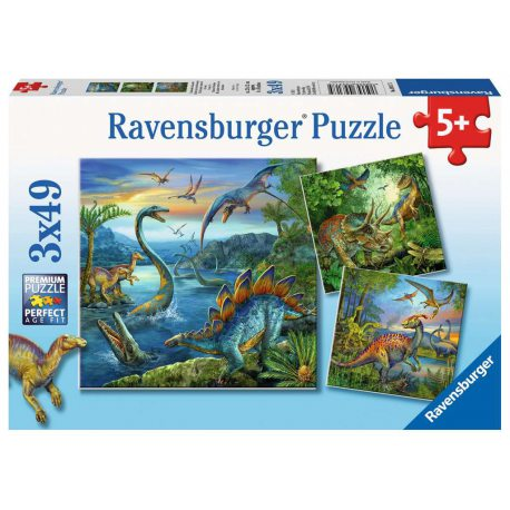 Ravensburger - Fascynacja dinozaurami 3x49 ele. 093175