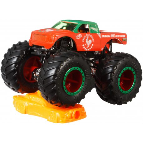 Hot Wheels Monster Truck - Metalowy pojazd Sriracha GJF34