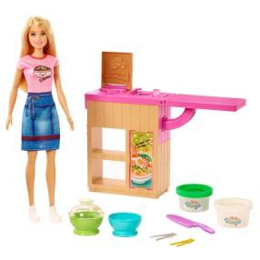 Barbie - Domowy makaron Zestaw z lalką, akcesoriami i masą plastyczną GHK43
