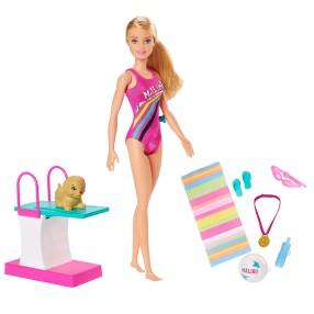 Barbie Dreamhouse Adventures - Zestaw Lalka Pływaczka z pieskiem GHK23