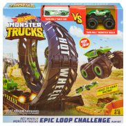 Hot Wheels Monster Trucks - Monster Pętla Zestaw + Pojazd Monster Trucks i Samochodzik GKY00