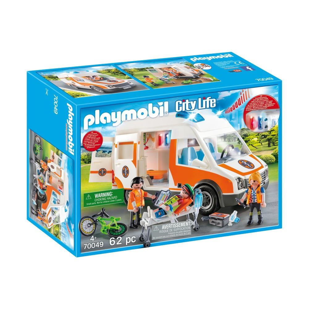 Playmobil - Karetka pogotowia ze światłem i dźwiękiem 70049