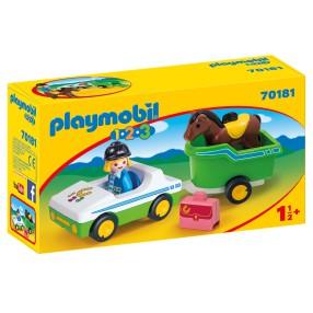 Playmobil - Samochód z przyczepą dla konia 70181