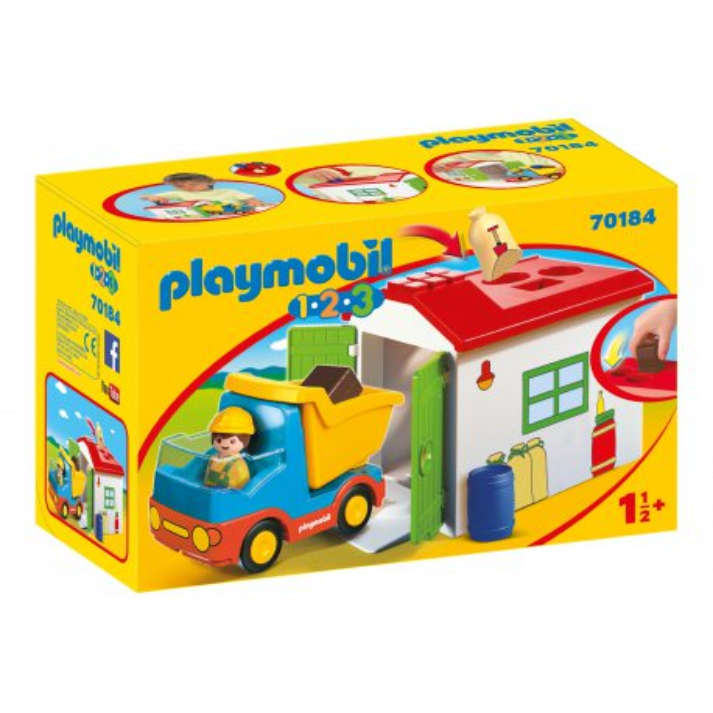 Playmobil - Ciężarówka z garażem z funkcją sortera 70184