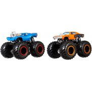Hot Wheels Monster Trucks - Metalowe Pojazdy Dwupak Rodger Dodger vs Dodge Charger R/T GBT69