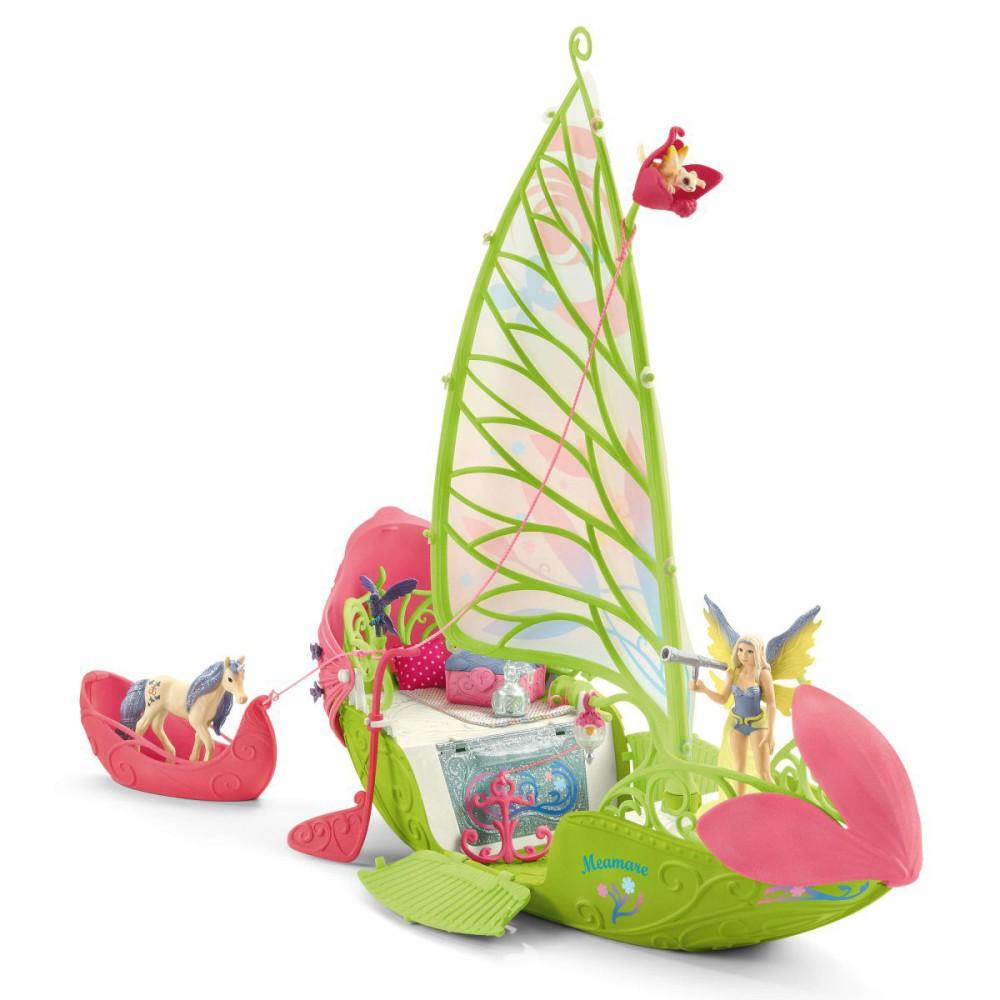 Schleich Świat Elfów Bayala Movie - Magiczna łódź kwiatowa Sery 42444