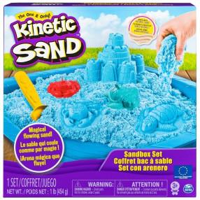Kinetic Sand - Piasek kinetyczny Zamek Zestaw z piaskownicą niebieski 454g 20106636