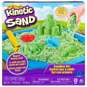 Kinetic Sand - Piasek kinetyczny Zamek Zestaw z piaskownicą zielony 454g 20106637