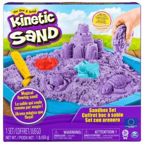 Kinetic Sand - Piasek kinetyczny Zamek Zestaw z piaskownicą fioletowy 454g 20106638