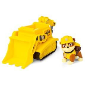 Psi Patrol - Pojazd z figurką Rubble Koparka Buldożer 20114323